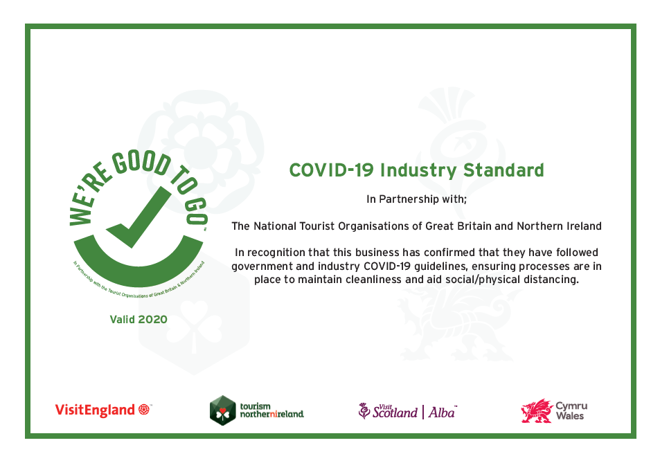 Good to Go Industry Standards COVID 19 Accredited