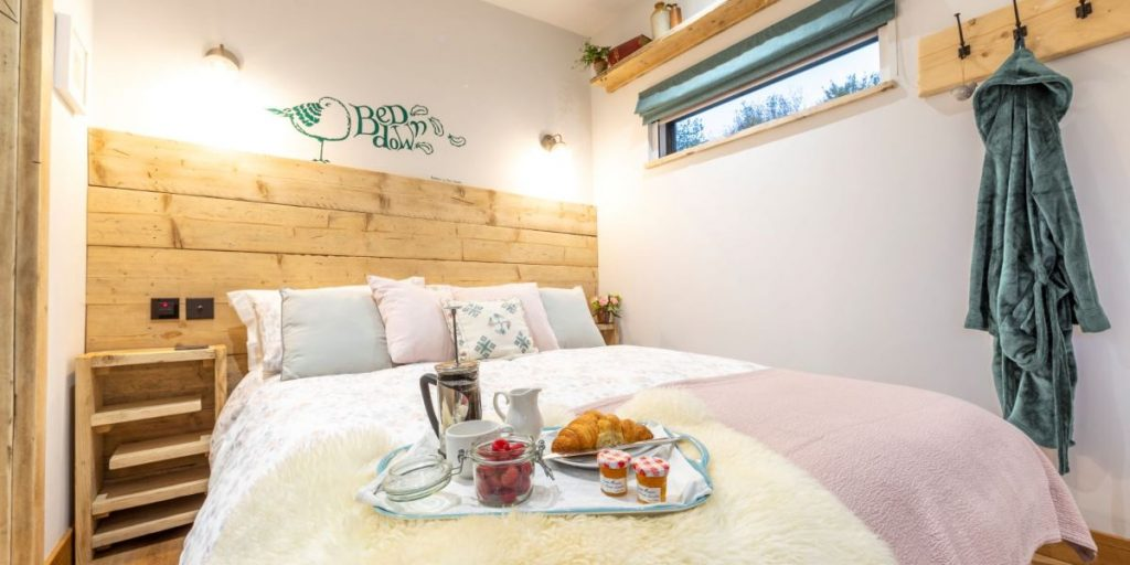 Cosy Bedroom at The Nook | Glamping Cabin Forest of Dean